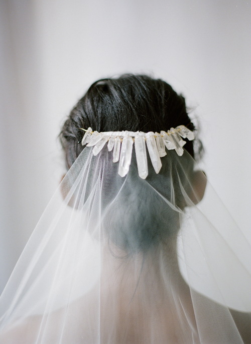 unique wedding beauty - crystals